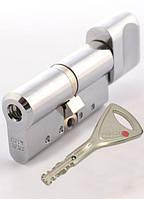 Цилиндр замка Abloy Protec 2 Hard  103 мм (52Hx51т) матовый xром MCR ключ-тумблер
