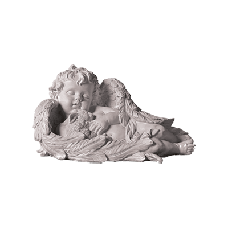 Скульптуры ангелочков из искусственного мрамора