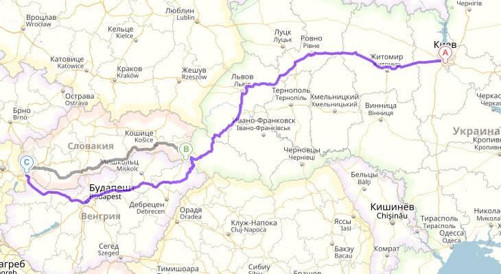 Перевозка личных вещей Украина - Словакия