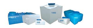 Емкости прямоугольные горизонтальные Пласт Бак 60 - 1000 литров