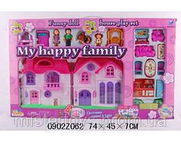 Домик 8032 кукольный, с семьей, мебелью, собачкой