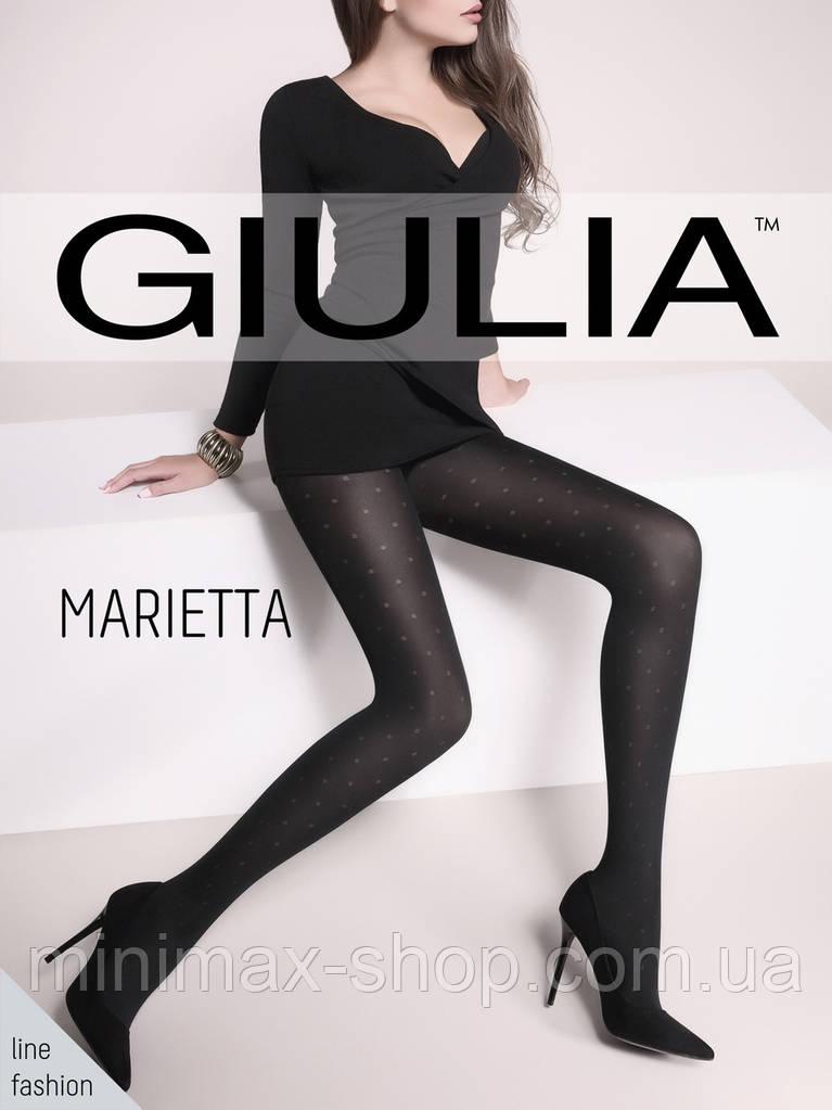 Колготки женские Плотные Элегантные с Рисунком в Горох MARIETTA 60 mod1 GIULIA