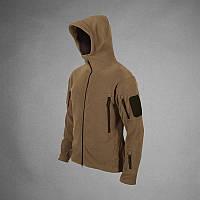 Мужская тактическая  флисовая куртка   кайот только ХЛ