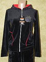 Спортивний костюм жіночий велюровий чорний