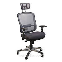 Кресло Коннект HR Алюм сиденье Сетка серая/спинка Сетка серая