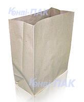 Пакет на вынос 380х320х150 (Бурый крафт 90гр/м)