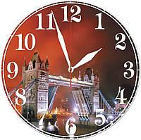"""Настенные часы """"Лондон"""" красные"""
