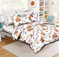 Детский комплект постельного белья в кроватку Семейство Мишек
