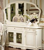 Буфет с зеркалом Беатриче белая