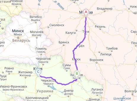 Перевозка личных вещей Москва - Киев