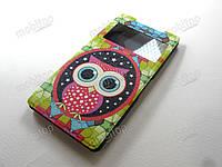 Кожаный чехол Sony Xperia Z2 (Owl), фото 1
