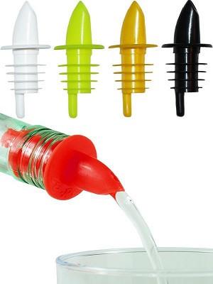 Комплект гейзеров пластиковых для бутылок, 4 шт