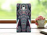 Чехол силиконовый бампер для Lenovo Vibe P1m с картинкой мир птичек, фото 9