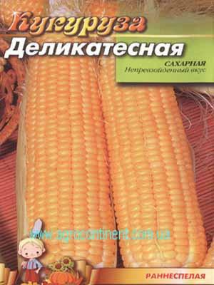 Насіння Кукурудза цукрова Делікатесна 500г ( зіп-пакет), ТМ Врожай