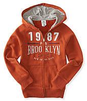"Кофта худи для мальчика PS Aeropostale  ""Бруклин"" оранжевая р.5"