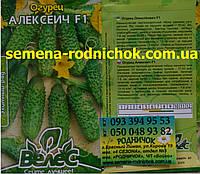 Огурец Алексеич F1 скороспелые самоопыляемые с групповой завязью плодов для теплиц и открытого грунта (10 сем)