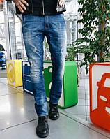 Джинсы P.n.B молодёжные рваные 7002 стильная мужская одежда 897483def85ef