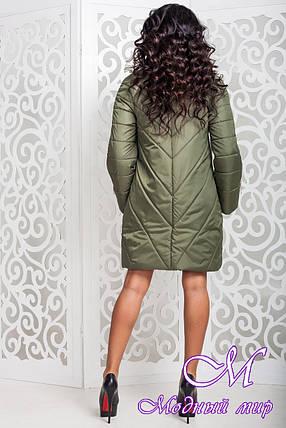 Женская оливковая демисезонная куртка р. 44-58 арт. 970 Тон 69, фото 2