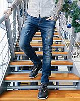 Джинсы Gabbia молодёжные рваные 0386 стильная мужская одежда, джинсы, брюки, шорты