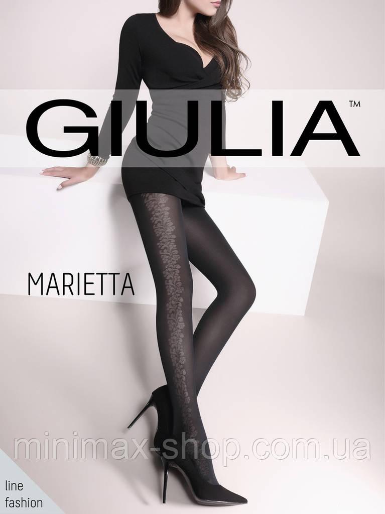 Колготки женские Плотные Элегантные с Широким Цветочным Орнаментом MARIETTA 60 mod7 GIULIA