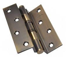 Петля дверная карточная угловая латунная 2BB (125x75x3 мм) AB CRANK античная бронза Siba