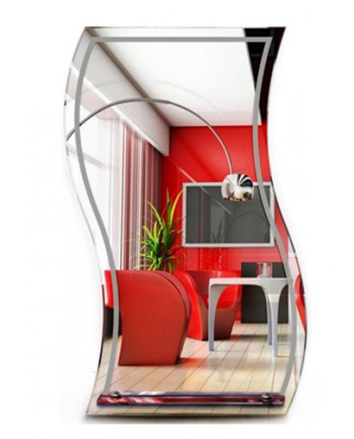Волнистое зеркало для спальни или ванной (80х50 см)