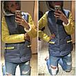 Женская куртка из комбинированной ткани, фото 3