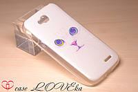 """Чехол LG L90 """"Белый кот"""""""