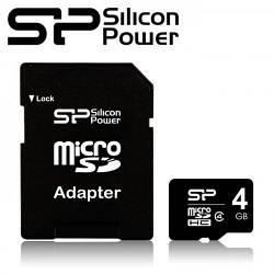 Карта памяти microSDHC Silicon Power 4Gb (class 4)