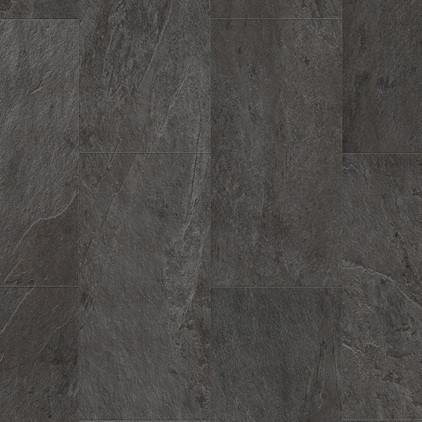 Вініловий ламінат Quick Step колекція Ambbient Click Декор Сланець чорний