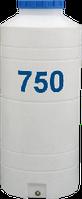 Емкость вертикальная узкая круглая 750 литров