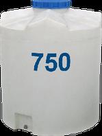 Емкость вертикальная круглая 750 литров