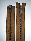 Блискавка металева роз'ємна 75см, тип 5 YKK EXCELLA® , 2 бігунка, фото 4