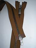 Блискавка металева роз'ємна 75см, тип 5 YKK EXCELLA® , 2 бігунка, фото 5