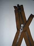 Блискавка металева роз'ємна 75см, тип 5 YKK EXCELLA® , 2 бігунка, фото 6