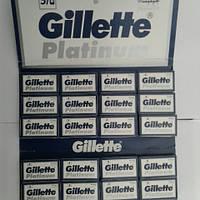 Лезвия двухсторонние Gillette Platinum 100 шт. в упаковке ( Жиллет платина оригинал импорт из ОАЭ), фото 1