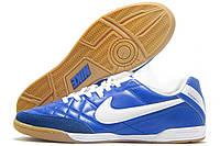 Бампы футзальные мужские Nike Tiempo синие (найк темпо)