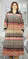 Женский велюровый банный халат - Артикул 141-7