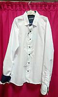 Рубашка белая для мальчиков, приталка  7-12 лет
