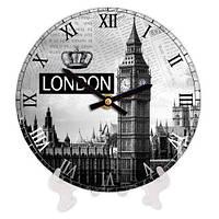 Часы настенные с принтом Лондон 18 см
