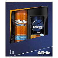 GILLETTE FUSION proglide набор бальз+гель д/б
