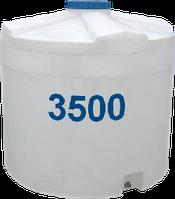 Емкость вертикальная круглая 3500 литров