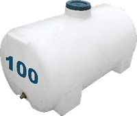 Емкость горизонтальная круглая 100 литров
