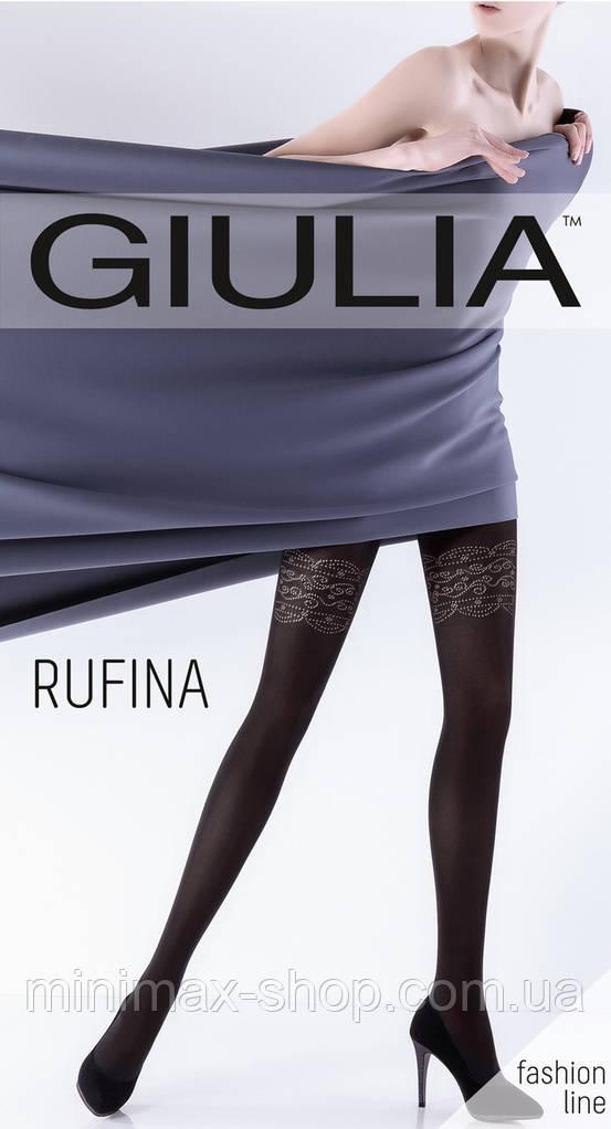 Колготки женские Плотные Элегантные с Ажурным Цветочным Рисунком RUFINA 100 mod10 GIULIA