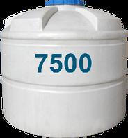 Емкость вертикальная круглая 7500 литров