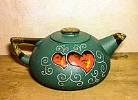 Чайник великий , декор Серце