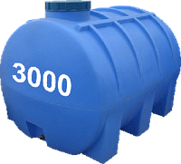 Емкость горизонтальная круглая 3000 литров