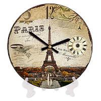 Круглые настольные часы с принтом Париж 18 см