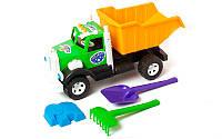Детская машинка Бамсик + набор для песка