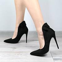 Очень стильные женские замшевые туфли-лодочки